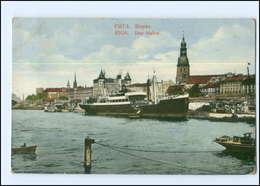 U8729/ Riga   Hafen Dampfer AK 1925 Lettland - Lettonia