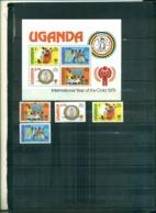 UGANDA  ANNEE DE L'ENFANT 4 VAL + BF NEUFS SURCHARGES UGANDA LIBERATED A PARTIR DE 0.75 EUROS - Uganda (1962-...)