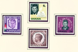 GHANA  -  1965 Kennedy Set Unmounted/Never Hinged Mint - Ghana (1957-...)