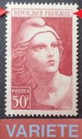 R1591/542 - 1945 - TYPE MARIANNE De GANDON - N°732 NEUF** LUXE - VARIETE ➤➤➤ Quelques Lettres évidées - Varietà: 1945-49 Nuovi