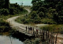 !  CPM, Moderne Ansichtskarte, Gabun, Gabon, Pont, Ogooue, Brücke, Afrika, Africa - Gabun