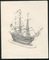H.M.S. Britannia Royal Navy College Darmouth Ship Christmas Card. - Documents