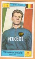 Figurina Sticker Campioni Dello Sport 1969-70 Panini - 211 FERDINAND BRACKE - Ciclismo - Panini