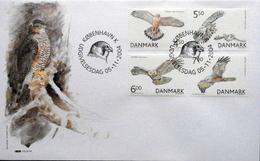 DENMARK 2004  Birds Of Prey;    MInr.1383-86      FDC   ( Lot  Ks ) - FDC