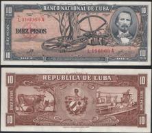 Cuba P 88 C - 10 Pesos 1960 - AUNC - Cuba
