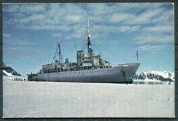 H.M.S. Protector Ship Christmas Card. Grahamland Antarctica - Dokumente