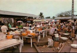 !  CPM, Moderne Ansichtskarte, Gabun, Gabon, Port Gentil, Le Marche,, Markt, Afrika, Africa - Gabun