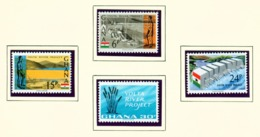 GHANA  -  1966 Volta River Project Set Unmounted/Never Hinged Mint - Ghana (1957-...)