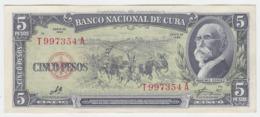 Cuba P 91 C - 5 Pesos 1960 - AUNC - Cuba