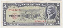 Cuba P 91 C - 5 Pesos 1960 - UNC - Cuba
