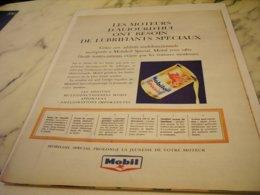 ANCIENNE PUBLICITE MOTEUR D AUJOURD  HUI  MOBILOIL 1961 - Other