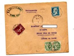 Lettre Recommandée ? Saint Denis Sur Blanc Pasteur - Postmark Collection (Covers)