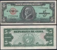 Cuba P 92 - 5 Pesos 1960 - UNC - Cuba