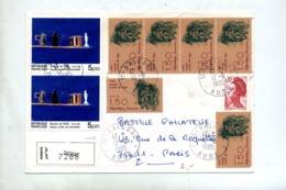 Lettre Recommandée Saissac Sur Stael  Rage - Postmark Collection (Covers)