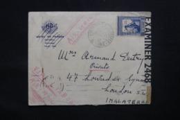 SAINT THOMAS - Enveloppe De St Tomé Pour Londres En 1943 Avec Contrôles Postaux, Affranchissement Plaisant - L 43584 - St. Thomas & Prince