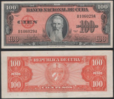 Cuba P 93 - 100 Pesos 1959 - AUNC - Cuba