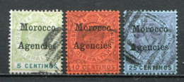 Great Britain Post In Marokko Nr.9, 10 + 12           O  Used      (1255) - Oficinas En  Marruecos / Tanger : (...-1958