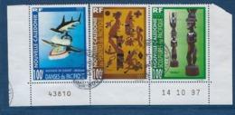"""Nle-Caledonie YT 741 à 743 """" Arts """" 1997 Oblitéré - Neukaledonien"""