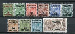 Great Britain Post In Marokko Nr.201/10             O  Used      (1258) 201 *  Unused - Oficinas En  Marruecos / Tanger : (...-1958