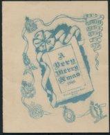1946 British Army Central Ordnance Dept, Didcot Christmas Card. - Dokumente