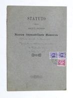 Statuto Della Società Anonima Nuova Immobiliare Moscova - Milano - 1926 - Libros, Revistas, Cómics