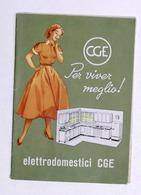 Brochure Elettrodomestici CGE - Per Viver Meglio - 1956 - Pubblicitari