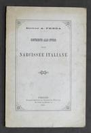 Botanica - A. Preda - Contributo Allo Studio Delle Narcissee Italiane - 1896 - Libros, Revistas, Cómics