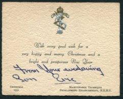 1951 British Army R.E.M.E. Christmas Card - Documents