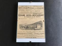 Publicité Livret Guide Illustré SAVOIE - VALLOIRES Grand Hotel Restaurant & Autres  - 1898 - Cadre Verre - Werbung