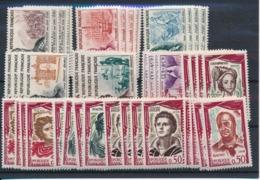 DD-34: FRANCE: Lot Avec Mini Stock** N°1295/1300(4)-1301/1305(4) - France
