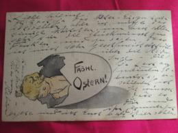 Frohl Ostern . Joyeuse Paques . Bebe Dans Un Oeuf 1903 - Pâques