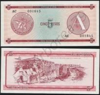 Cuba P FX3 - 5 Pesos 1985 - AUNC - Cuba
