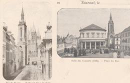 Tournai. Le...Rue ST-Martin. Beffroi-Salle Des Concerts (1824) Place Du Parc.  Scan - Tournai