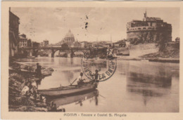ITALIE - CPA - ROMA  TEVERE E CASTEL S. ANGELO - San Pietro
