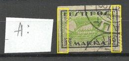 Estland Estonia 1920 Michel 23 B ERROR Variety Abart Shifted Green Print O - Estland