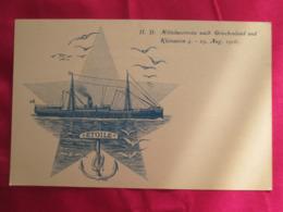 Mittelmeerreise Nach Griechenland Und Kleinasien 1906  .dos 1900 - Paquebots