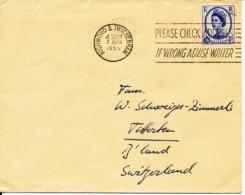 Great Britain Air Mail Cover Sent To Switzerland Richmond & Twickenham 7-4-1955 Single Franked - 1952-.... (Elizabeth II)