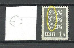 ESTLAND Estonia 1940 Michel 164 W ERROR Abart Variety = Black Beards MNH - Estland
