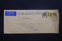 MALAISIE - Enveloppe De Singapore Pour Le Royaume Uni En 1935, Affranchissement Plaisant - L 43596 - Straits Settlements