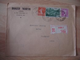 Recommande Timbre 1.25 Victor Hugo Et 90 C Col Iseran  Lettre Recommandee - 1921-1960: Modern Period
