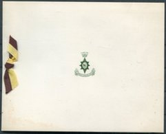 British Army Worcestershire Regiment Christmas Card. General Sir Richard Gale Presenting New Colours. 1st Battalion - Dokumente