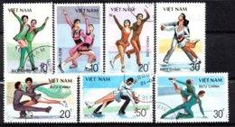 Vietnam 1989 Mi.nr: 2044-2050 Eistanzen Oblitérés / Used / Gestempeld - Figure Skating