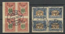 Estland Estonia 1920 Michel 25 - 26 As 4-blocks O - Estland