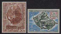 TAAF - Poste Aerienne - N°22+23 - Cote +58€ - ** Neuf Sans Charniere - Poste Aérienne