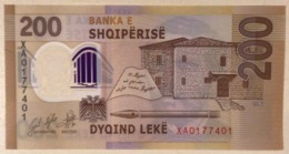 Albania 200 Leke P-new 2019 REPLACEMENT UNC Polymer Banknote - Albanien