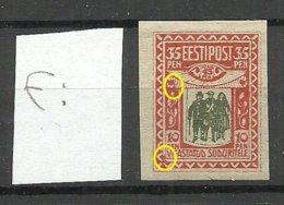 Estland Estonia 1920 Michel 21 ERROR Abart Variety * - Estland
