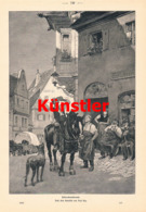 1386 Paul Hey Feierabend Gasthaus Reiter Druck 1903 !! - Prints