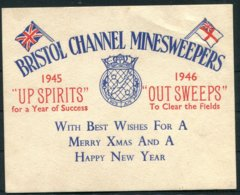 1945/6 Bristol Channel Minesweepers Royal Navy Ship Christmas Card. - Dokumente
