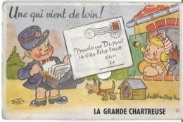 LA GRANDE CHARTREUSE 38 ISERE  21 CARTE FANTAISIE ILLUSTRATEUR BOZZ FACTEUR CHIEN 10 MINI-CARTES - Chartreuse