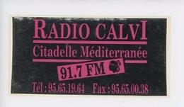 RADIO CALVI Citadelle Méditerranée 91,7 FM (autocollant 14X7) - France